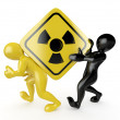 Two men with simbol of radiation — Stock Photo #5269624