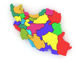 Three-dimensional map of Iran — Stock Photo