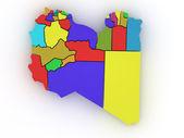 Three-dimensional map of Australia — Stock Photo