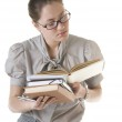 Clever reading woman — Stock Photo