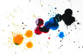 Colorful ink blot on white — Stock Photo