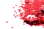 Glitter sparkles dust on background, shallow DOF — Stock Photo