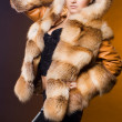 Beautiful woman in a fur coat — Stock Photo #3978657
