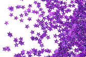 Estrelas de celebração no fundo branco — Foto Stock
