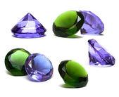 Beautiful diamond crystal isolated on white — Stock Photo