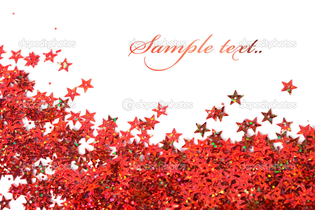Celebration stars on white background — Stock Photo #4066512