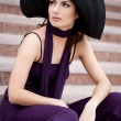 Beautiful lady in the hat — Stock Photo