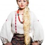 Beautiful woman in national costume — Stock Photo