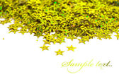 Celebration stars on white background — Stok fotoğraf