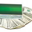 Many money in green box — Stock Photo