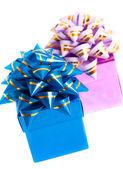 Cajas de regalo aisladas sobre fondo blanco — Foto de Stock