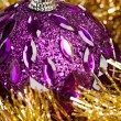Christmas decoration with festive garland (shallow DOF) — Stock Photo #4494992