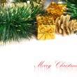 Christmas decoration with festive garland - Stockfoto