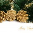 Christmas decoration with festive garland — Stock Photo