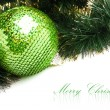 Christmas decoration with festive garland (shallow DOF) — Foto de Stock