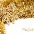 Christmas decoration with festive garland — Stock Photo #4495344