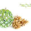 Christmas decoration isolated on white background — Stock Photo #4495360