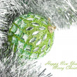 Christmas decoration with festive garland — Foto de Stock