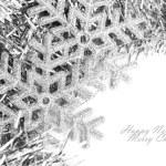 Christmas snowflake with festive garland — Stock Photo