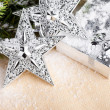 Christmas decoration with gift box — Foto de Stock
