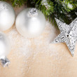 Christmas decoration with festive ball - Stockfoto