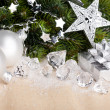 Christmas decoration with gift box — Foto Stock