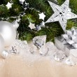 Christmas decoration with gift box — Stock Photo #4495819