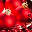 Christmas decoration with european holly — Stock Photo #4495904