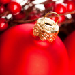 Christmas decoration with european holly — Stock Photo #4495916