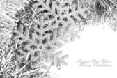 Christmas snowflake with festive garland — Stockfoto