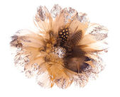 Christmas flower poinsettia made of feathers and rhinestones — Стоковое фото
