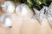 Christmas decoration with festive ball — Stok fotoğraf