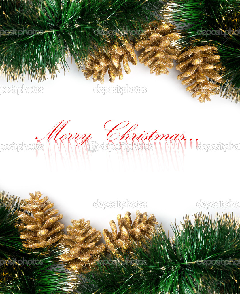 Christmas decoration with festive garland — Stock Photo #4495042