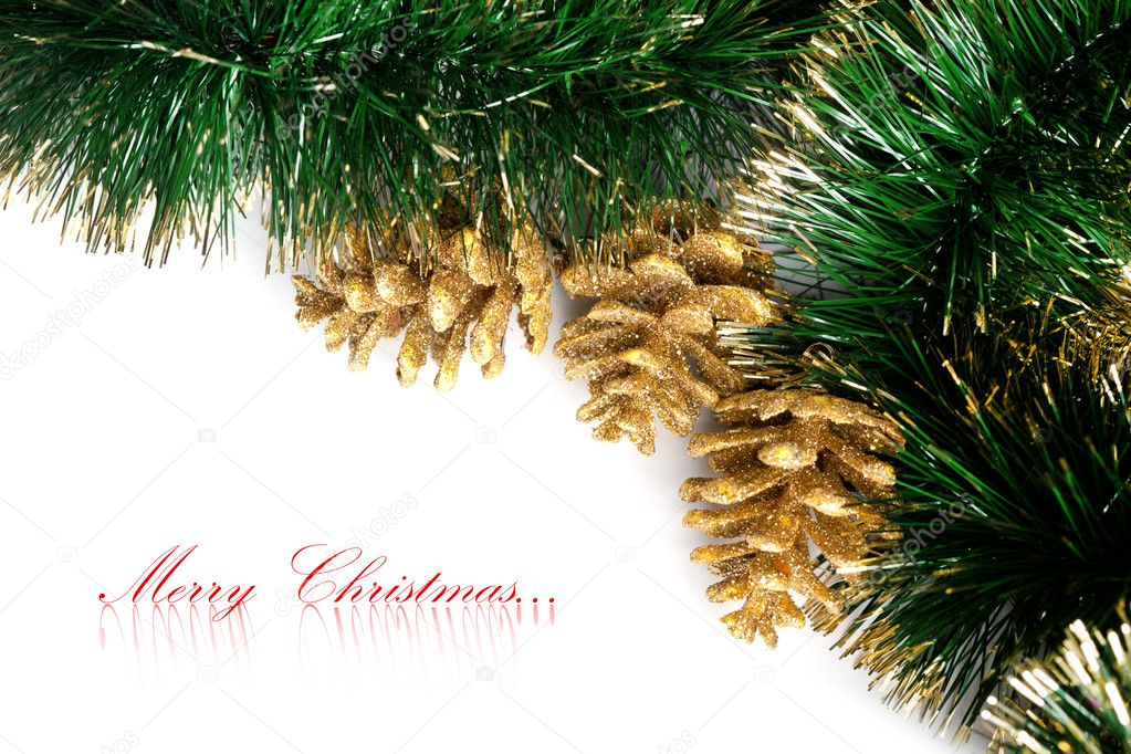 Christmas decoration with festive garland — Stock Photo #4495051