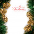 Christmas decoration with festive garland - Foto de Stock  