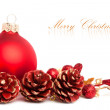 Christmas decoration with european holly — Stock Photo #4505443
