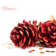 Stock Photo: Christmas pinecone with europeholly