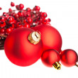Christmas decoration with european holly — Stock Photo