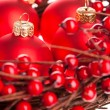 Christmas decoration with european holly — Stock Photo #4506052