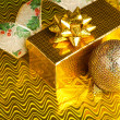 Christmas decoration ball with ribbon - Foto de Stock