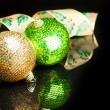 Christmas decoration ball with ribbon — Stock Photo #4506198