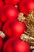 Christmas decoration with festive garland — Foto Stock