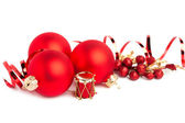 Christmas decoration isolated on white background — Stok fotoğraf