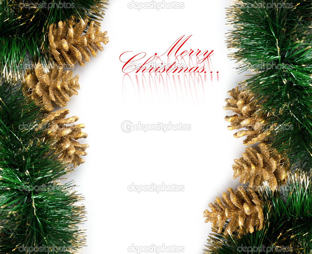 Christmas decoration with festive garland  Stock Photo #4505330
