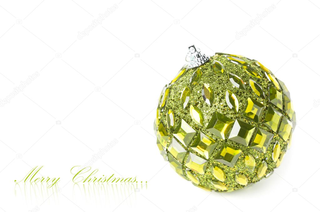 Christmas decoration isolated on white background  Stock Photo #4505350
