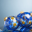 Christmas decoration balls with ribbon - Стоковая фотография
