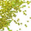 Stock Photo: Celebration stars on white background