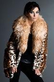 Piękne kobiety modne w futra — Zdjęcie stockowe