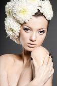 Portrait of the beautiful sweet woman — Stock Photo