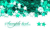Celebration stars on white background — Zdjęcie stockowe